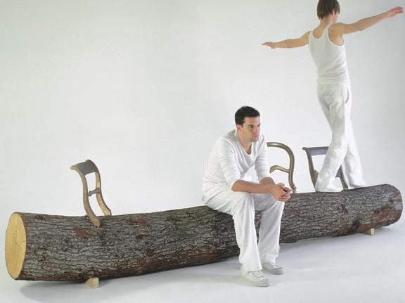 `Tree-Trunk Bench` no Jurgen Bey