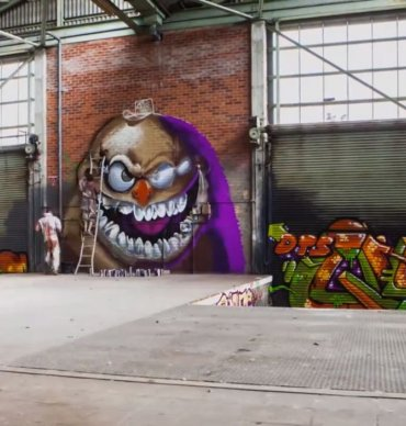 Time-lapse graffiti video no Sofles
